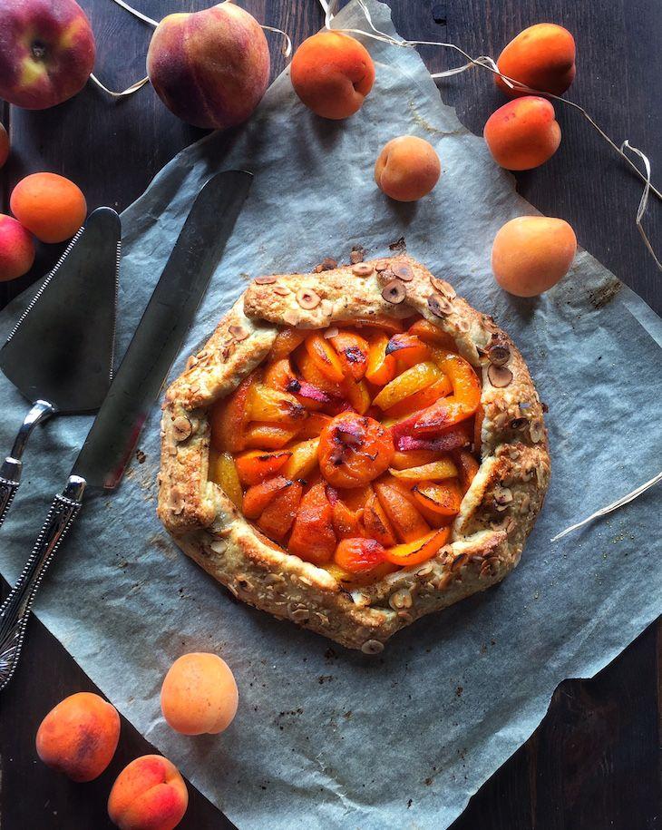 Apricot & Peach Galette / Kayısı ve Şeftalili Galette