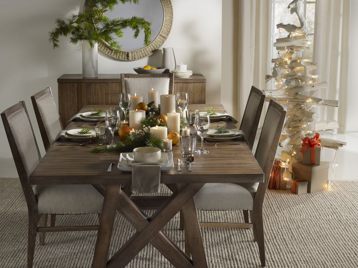 Serve Up A Taste Of Scandinavian Style With The Studio Geo Trestle Dining Table Stol Upholstered Chairs And Norden Storage Credenza