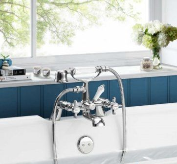 Rochester Bath Mixer Tap with Hand Held [PT-TB2049] - £110.49 : Platinum Taps & Bathrooms