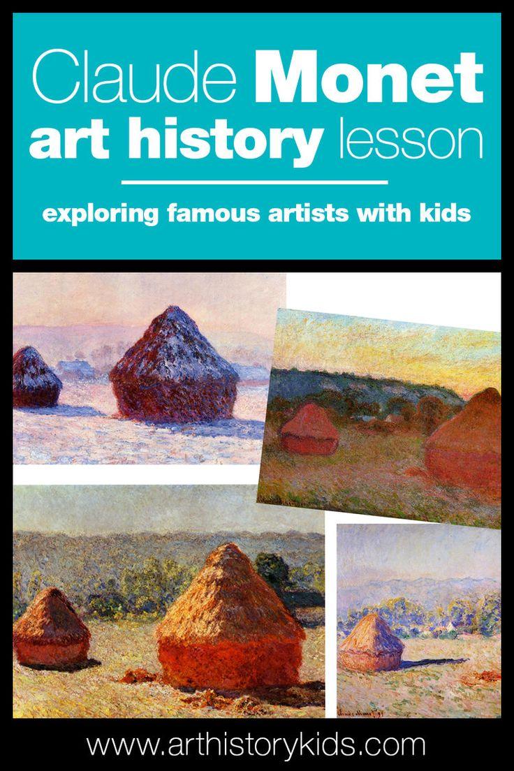Claude Monet art history lesson plan for kids.
