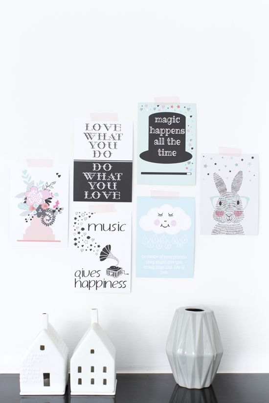 Posters als muurdecoratie | posters as wall decoration | Sparkling Paper