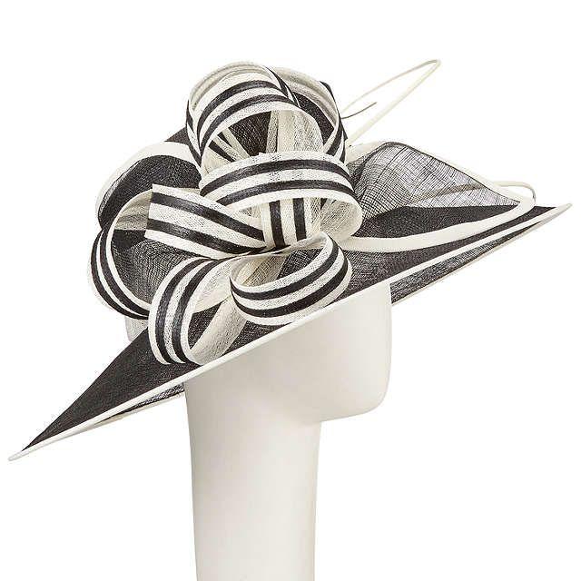 BuyJohn Lewis Louise Sinamay Loops Occasion Hat, Black/White Online at johnlewis.com