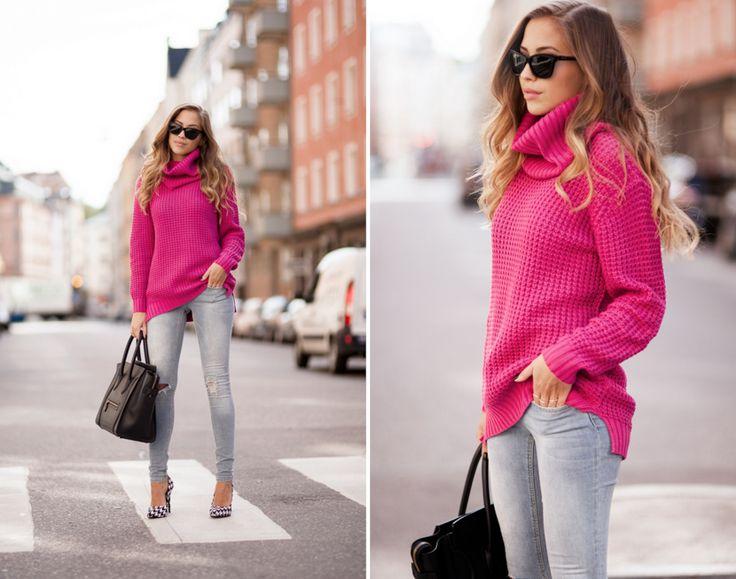 The 25  best Hot pink sweater ideas on Pinterest | Hot pink shirt ...