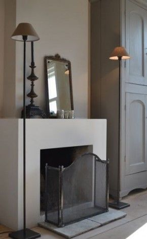 Try Farrow and Ball Lamp Room Gray and Stony Ground