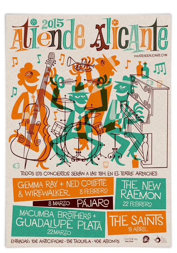 Music poster - Atiende Alicante! 2015 on Behance