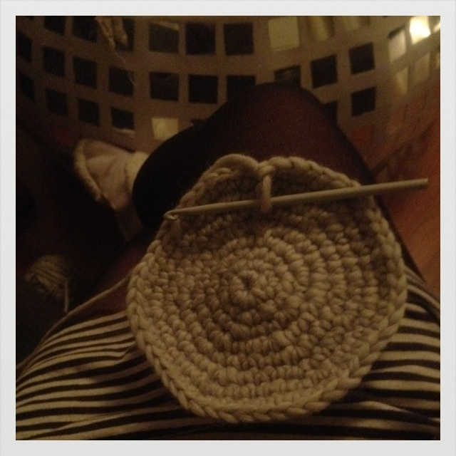 Crocheting away last winter