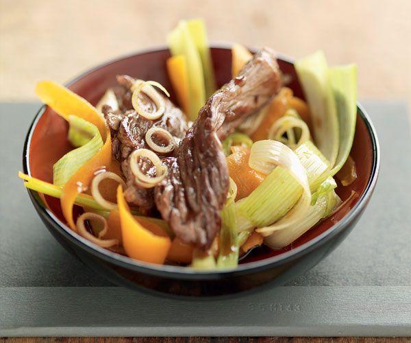 Wok de bœuf aux légumes gourmands