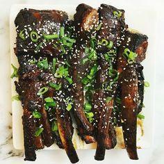 Sticky Crockpot Ribs with Sage Garlic Roasted Fingerling Potatoes #YummySoup