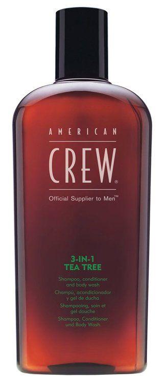 American Crew 3-in-1 TEA TREE Shampoo, Conditioner & Body Wash