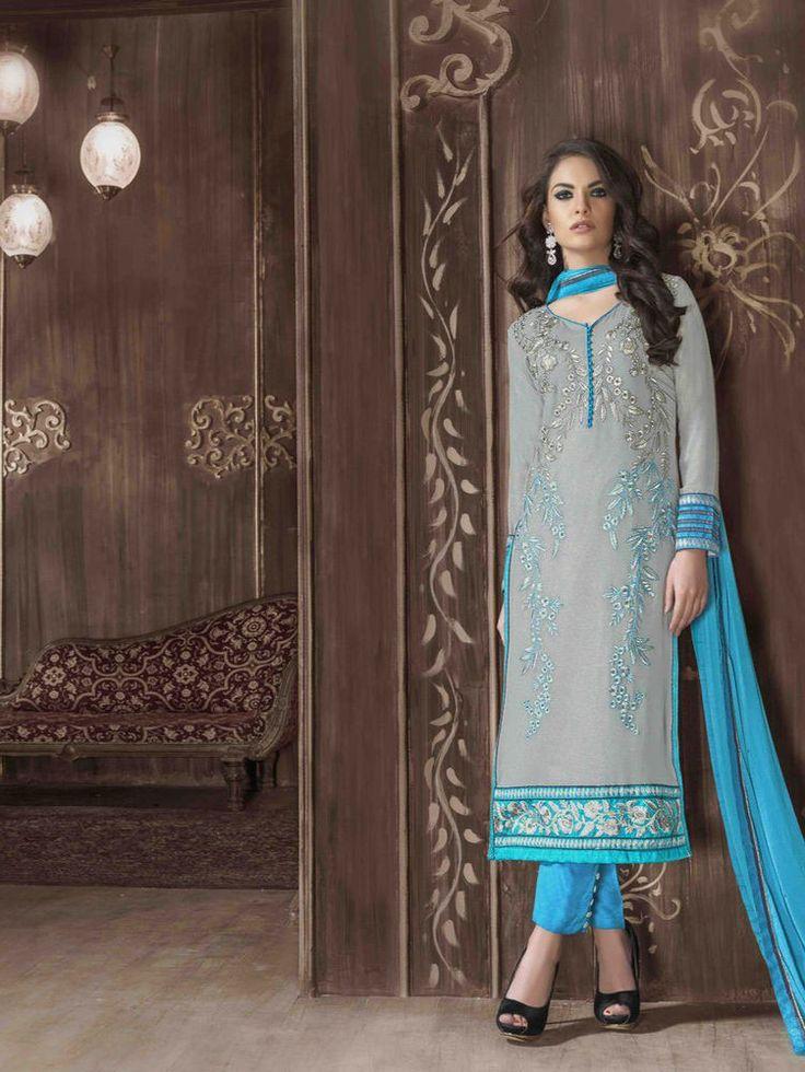 Ethnic Kameez Designer Anarkali Pakistani Suit Dress Indian Salwar Bollywood…