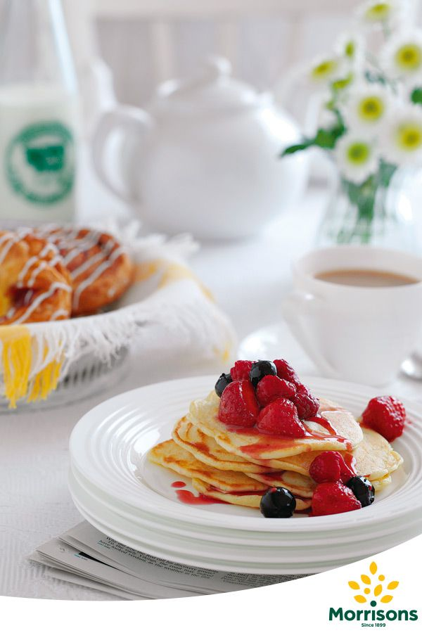Buttermilk Pancakes with Red Fruits