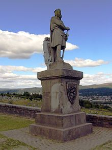 Statue of Robert the Bruce at Stirling Castle in Stirling, Scotland
