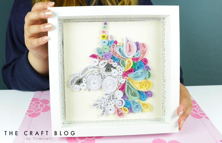 DIY Unicorn Quilling Tutorial with ... | The Craft Blog