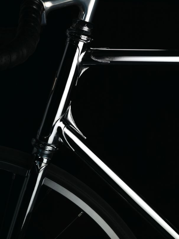 H-003 by Heritage-Paris Photo: David Francois #bicycle #frame #heritageparis #bespoke #photography #fixedgear #fixie #pignonfixe #luxe #luxury #H003 #chrome #davidfrancois #madeinfrance #handmade #unique #handcrafted