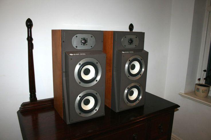 Stunning Pair Vintage Retro Leak 3030 Monitor Speakers Teak Cases Working Order In Home
