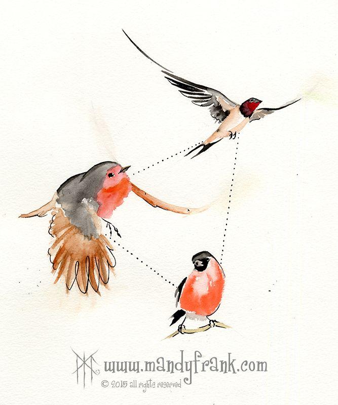 #birdtrigone #watercolor #artwork #mandyfrank #illustration #hamburg2016