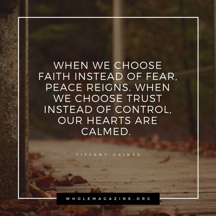 trust faith without fear I want to speak to you in this last session on: from fear to faith in the  trust,  from the heart on what god has said to me faith without faith, it.