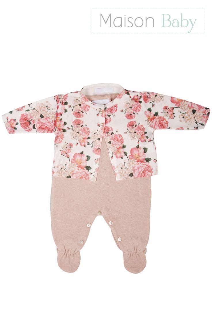 Conjunto Saída de maternidade Flores - Maison Baby