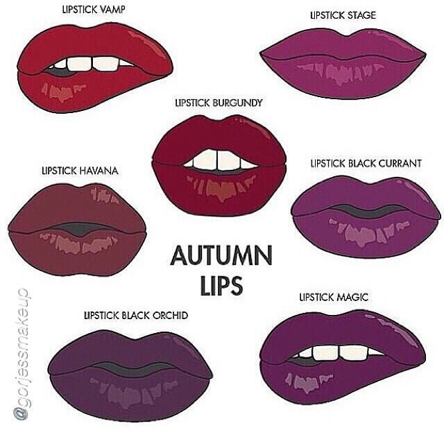Autumn lips? Maybe. To me, it's less red and more purples,plums, and pinks all year around, can't forget my dark brown that's almost black.