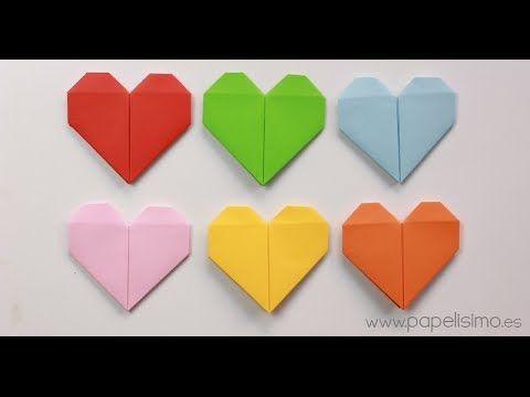 Corazón de papel. Tarjeta de San Valentín Origami | Manualidades