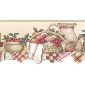 Fruit Basket Fresh Country Kitchen Style Scalloped Die Cut Wallpaper Border  | EBay