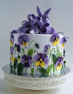 Spring pansy cake