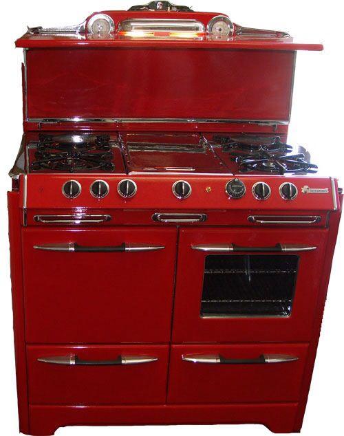 89 best images about kitchen red on pinterest vintage - Red kitchen appliances ...