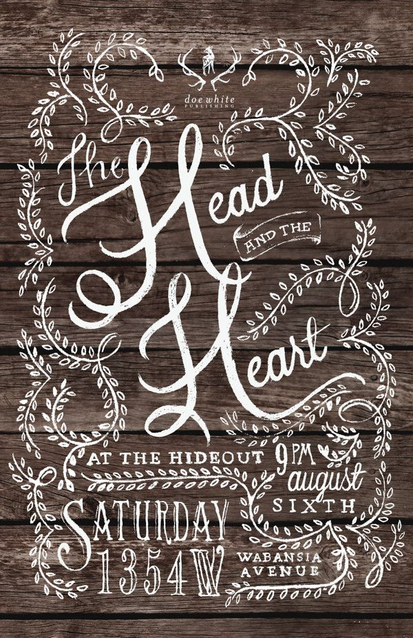 The Head and The Heart Poster Design by Morgan Garleff, via Behance