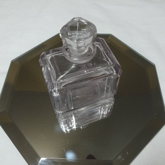 1940s vintage smoky glass perfume decanter or bottle with for How to break bottom of glass bottle