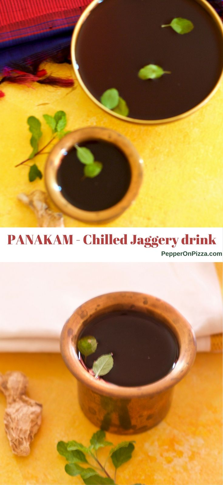 Panakam Traditional Indian Summer Cooler Of Jaggery And Dry Ginger
