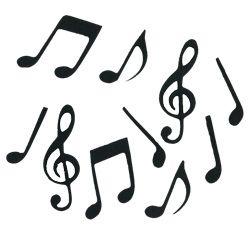 Aplique em EVA Notas Musicais com 10 und 173 - decoracao-decoracao-para-parede-apliques-em-eva-tracos-magicos-notas-musicais-com-10-und-173 1001 Festas | Detalhes do Produto