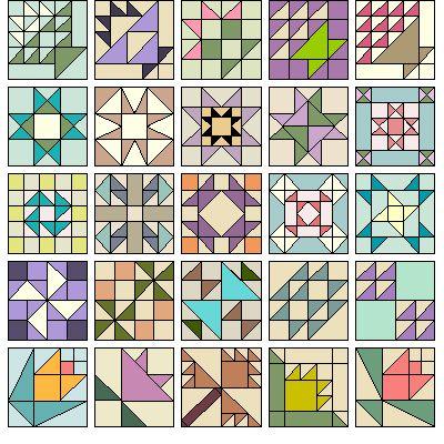 Образец блоков: Программа поставляется с 500 блоков.