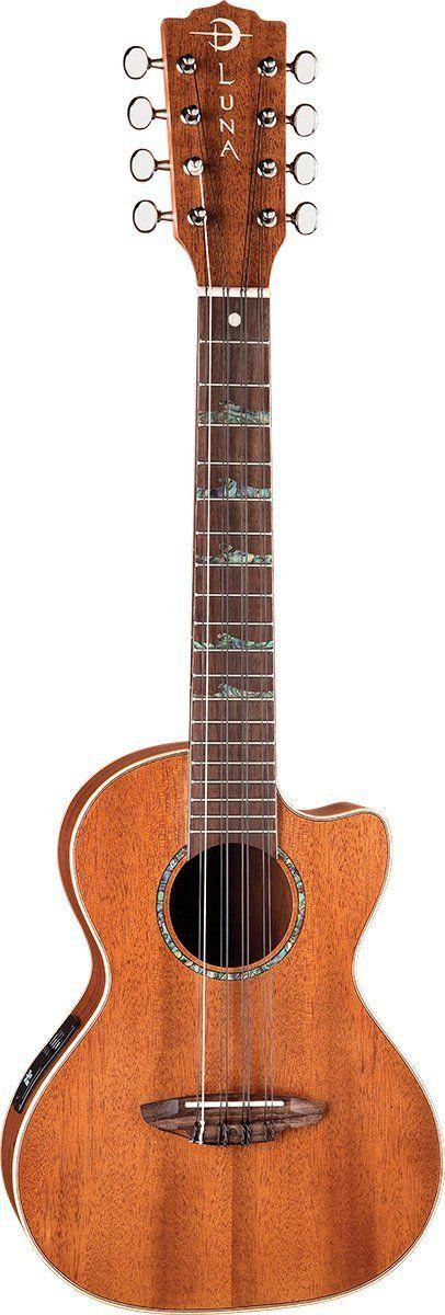 Luna Guitars UKEHTT8 8 string High Tide tenor Ukulele: Amazon.de: Musikinstrumente