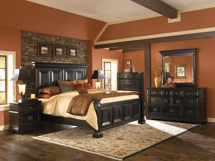 Pulaski Brookfield 4 Piece Panel Bedroom Set Sale Discount Cheap Bedroom Furniture Save