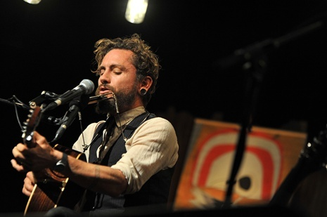 John Butler performs his solo show, Tin Shed Tales, at Launceston's Princess Theater.
