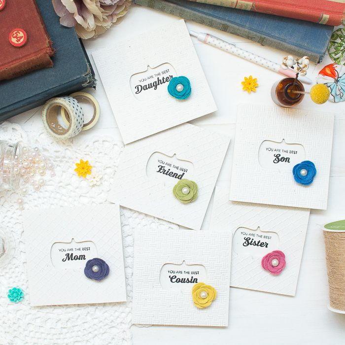 funny personal wedding card matter%0A Fun Personal Mini Cards with Felt Flowers