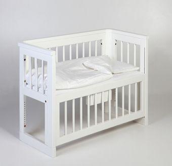 Troll Spjälsäng Sun Bedside Crib Vit | Inredning Barnsängar | Jollyroom