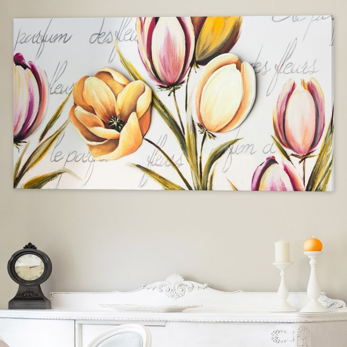 FLOWERS PROVENCE #quadro #quadri #pannelli #madeinitaly #paintings #pictures #pintdecor #canvas