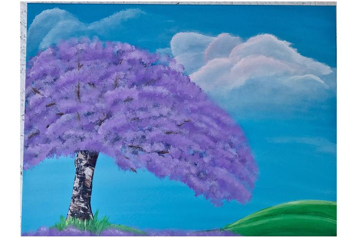 Jacaranda tree painting. by CreationsInTheSun on Etsy https://www.etsy.com/listing/523182579/jacaranda-tree-painting