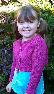 Katren child's cropped cardigan  knitting pattern