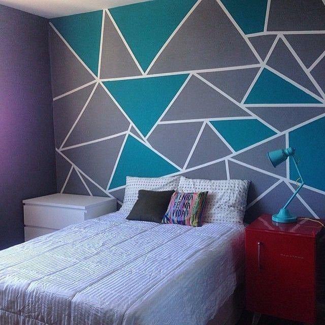 16+ Triangulo paredes pintadas con figuras geometricas ideas in 2021
