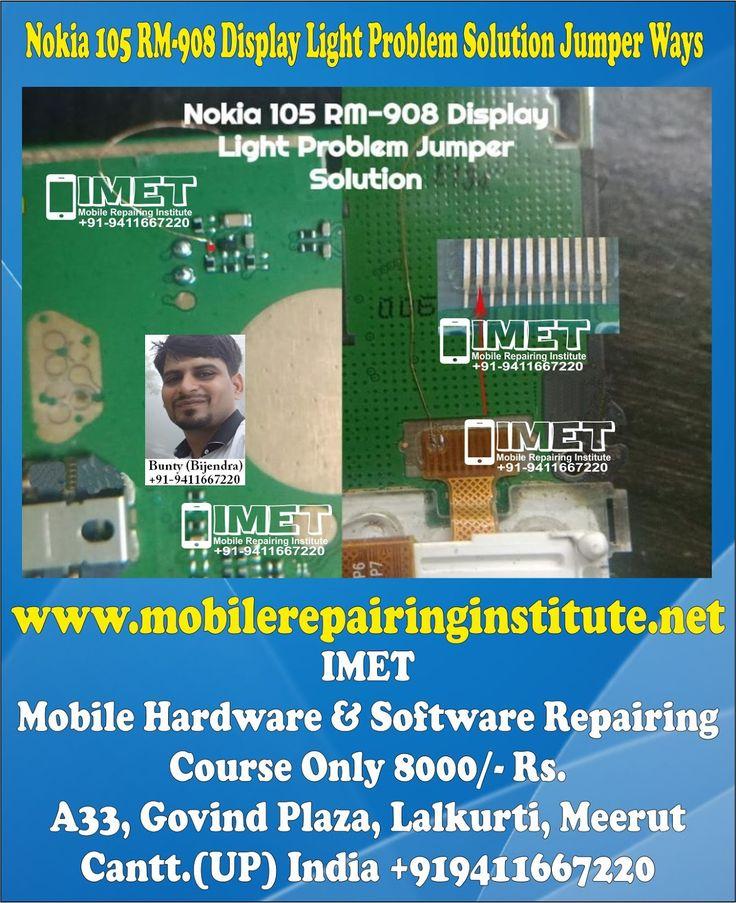 Nokia 105 RM908 Display Light Problem Solution Jumper