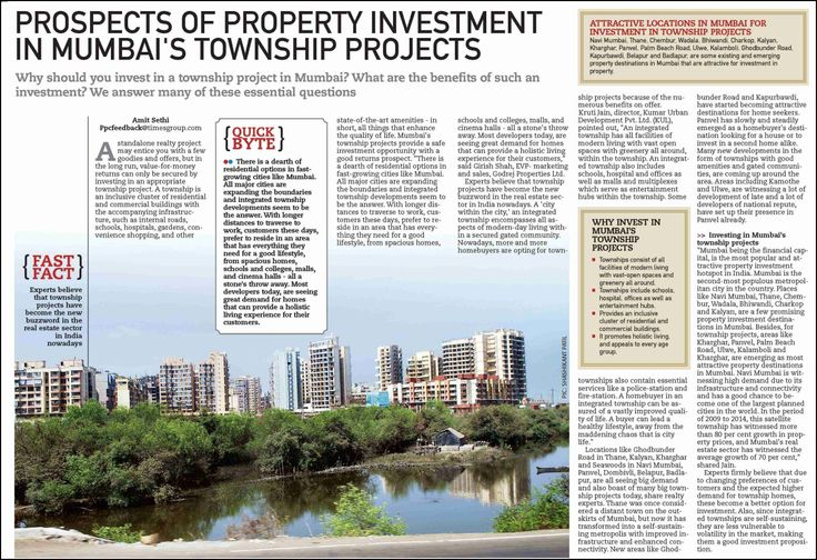 Prospects of Property Investment In Mumbai's Township Projects.  #propertyinvestment #townshipprojects