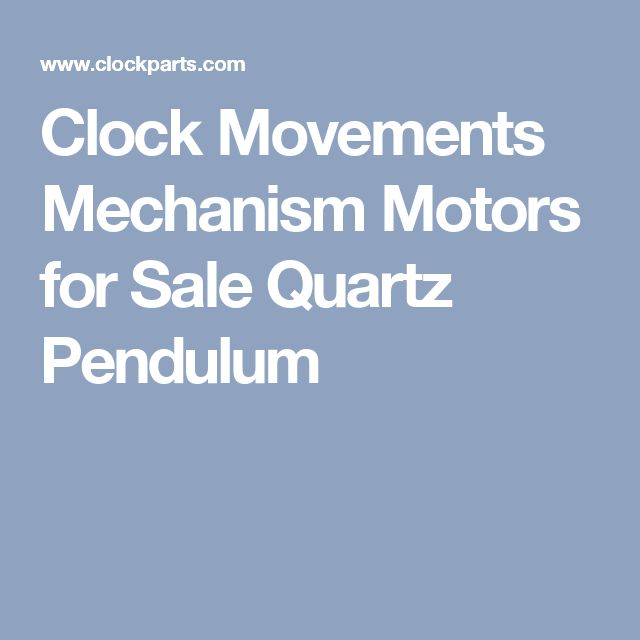 Clock Movements Mechanism Motors for Sale Quartz Pendulum