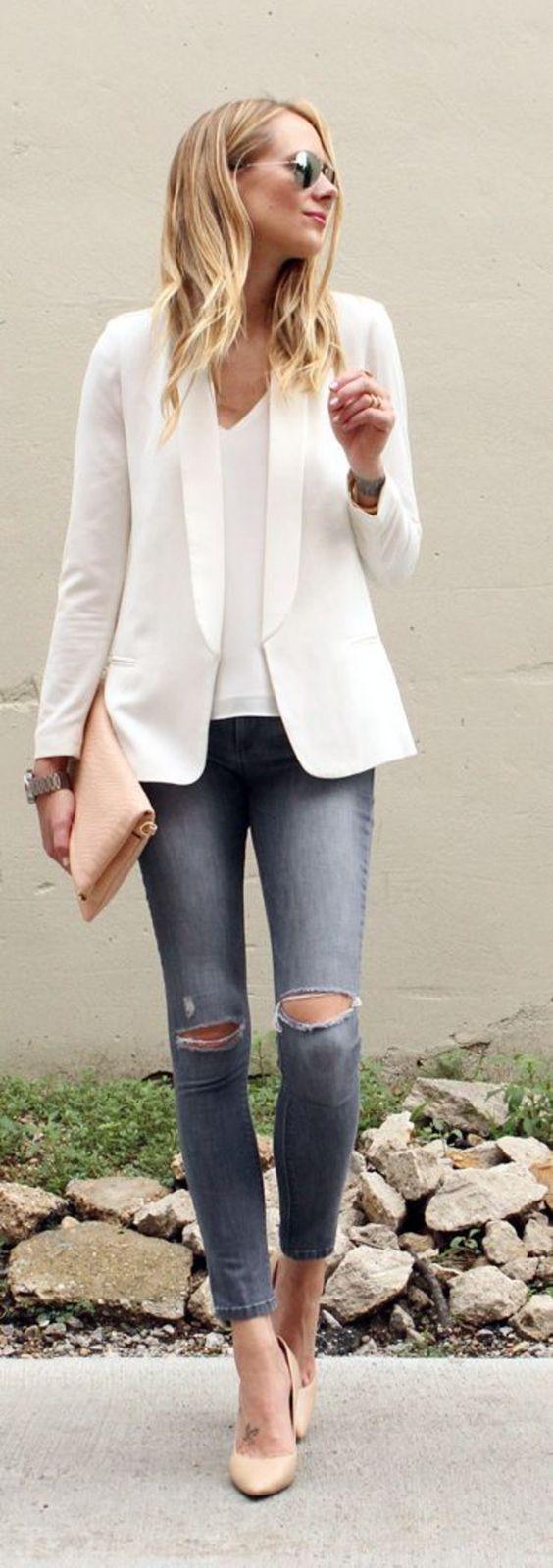 Schick und lässig - nicht nur ins Büro - wie Blazer kombinieren *** How to combine Blazer for Women - casual outfit for work