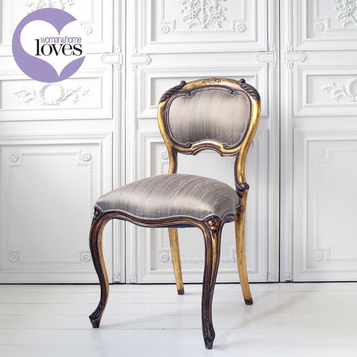 Versailles Baby Gold Chair by The French Bedroom Company I love everything about this chair!! The fabric colour is GORGEOUS