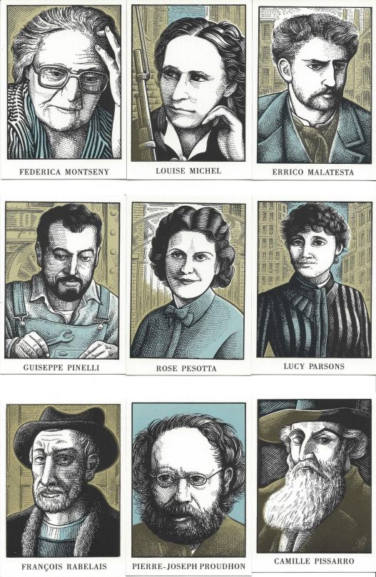 36 Anarchists, illustrations by Clifford Harper
