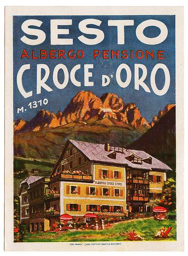 Sesto - Albergo Croce d'Oro | Luggage Labels by b-effe | Flickr