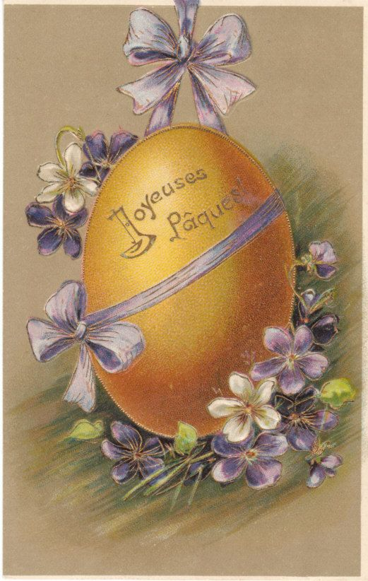 Vintage Happy Easter Greetings Postcard  by sharonfostervintage, $2.50
