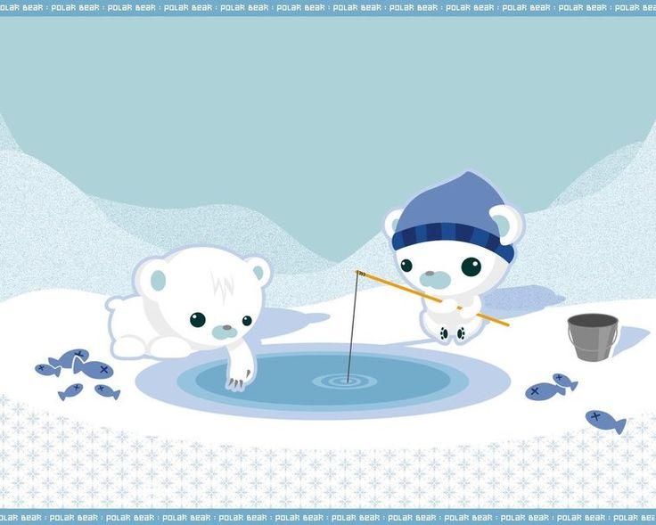 Dessin, ours, pêche, bulletins d'enneigement Wallpaper - ForWallpaper.com